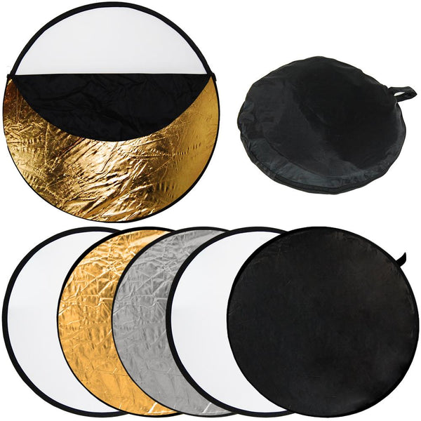 "22""  5 in 1 Portable Photography Studio Multi Photo Disc Collapsible Reflector"
