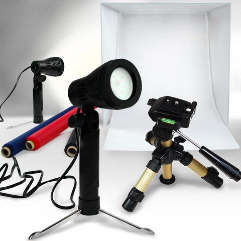 Lusana Photo Studio LED White Video Continuous Lighting Photography Tent Box