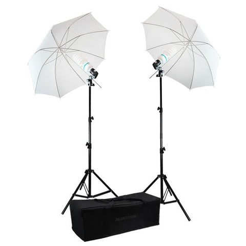 "Photography 33"" Photo Studio Soft Umbrella 2x 45W Bulbs Continuous Lighting Kit"