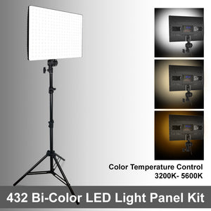 Lusana Studio LED Light Panel Dimmable Color Temperature Control with 432 LEDs