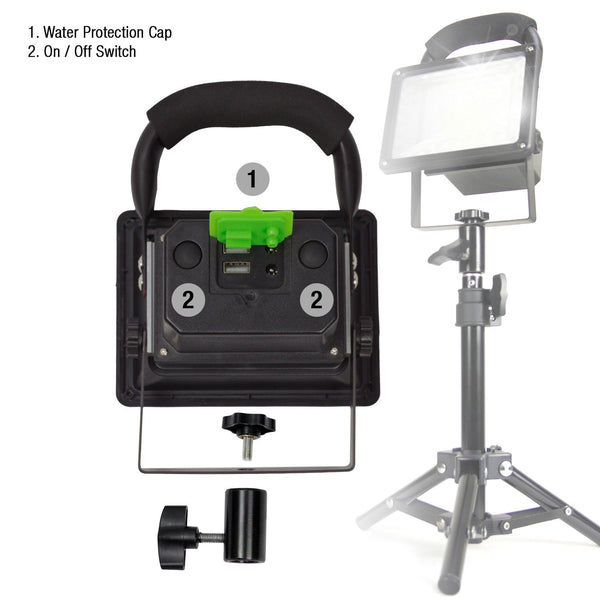 Lusana Studio 2Pack Portable Wireless 30W LED Flood Table Lights for Photo Video