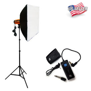300W Photography Studio Strobe Photo Flash Light Softbox Kit