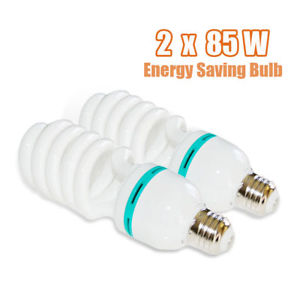 2 X 85W Photography Photo Studio Lighting Light Bulbs Day Light