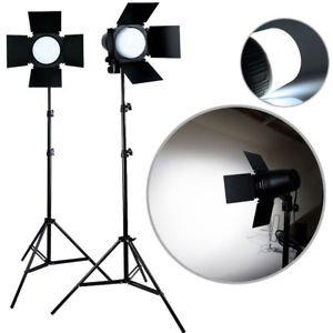 Photography Light 2x LED Lighting Stand Kit 3300lm Day Light Lamp N