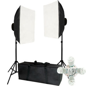 2000w Video Photography Softbox Stand Continuous Lighting Kit
