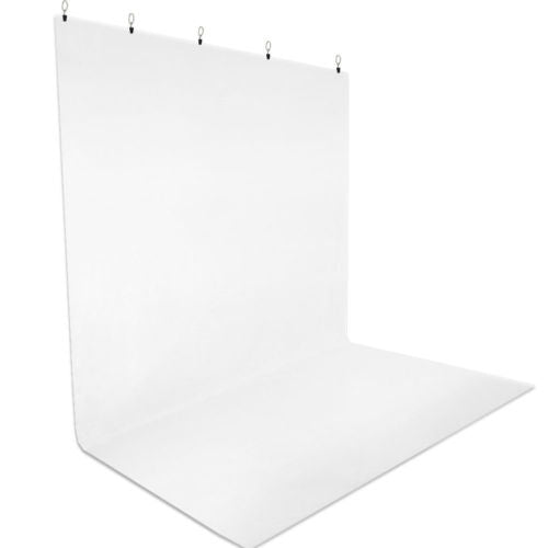 White 5 x 10ft. Muslin Backdrop w/ Holders Kit Lusana
