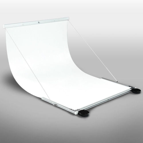 Lusana Studio Seamless White Background Photography Table Portable Shooting