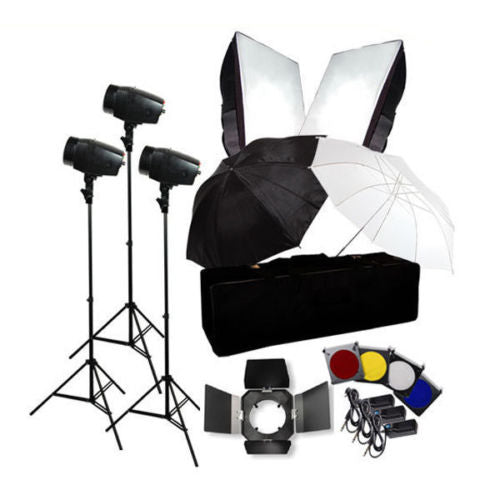 Photo Flash Kit 540W Photography Studio Strobe Light Umbrella Softbox