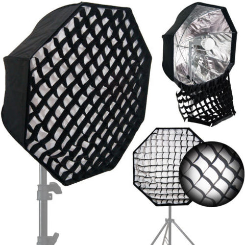 "31"" Octagon Flash Umbrella Speedlite Softbox Brolly Reflector Grid"