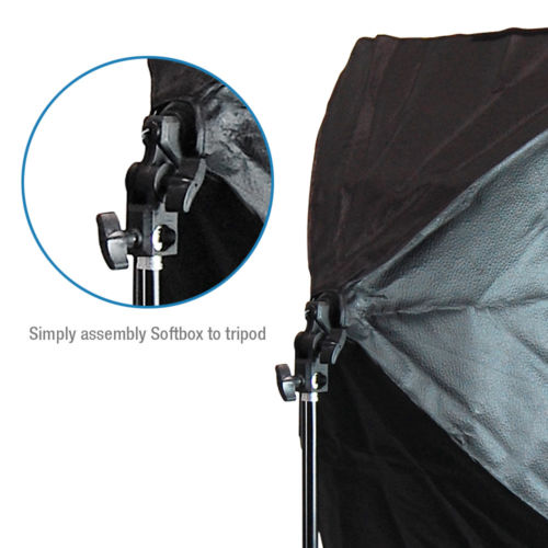 125W Soft Box Photography Boom Stand Continuous Lighting Kit Photo Video Studio