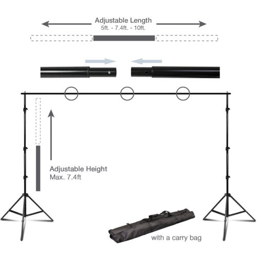 Photography Kit 3 Light Bulb Umbrella Muslin 3 Backdrop Stand Set