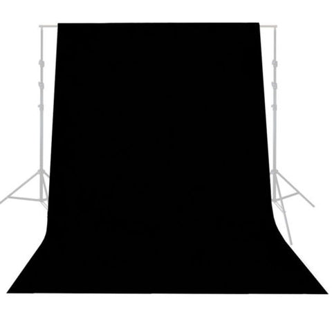 Lusana Studio 6' x 9' Black Muslin Backdrop Photography Studio Background