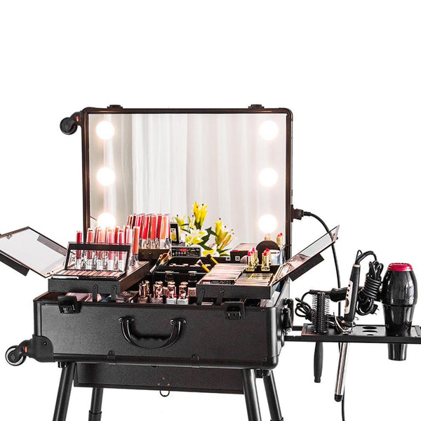 Black Satin | Pro Diva Traveling Makeup Studio - DivaDolly