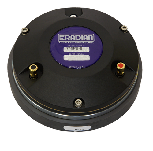 Radian 745BePB 8ohm BERYLLIUM Diaph Compression Driver - AUTHORIZED Distributor!
