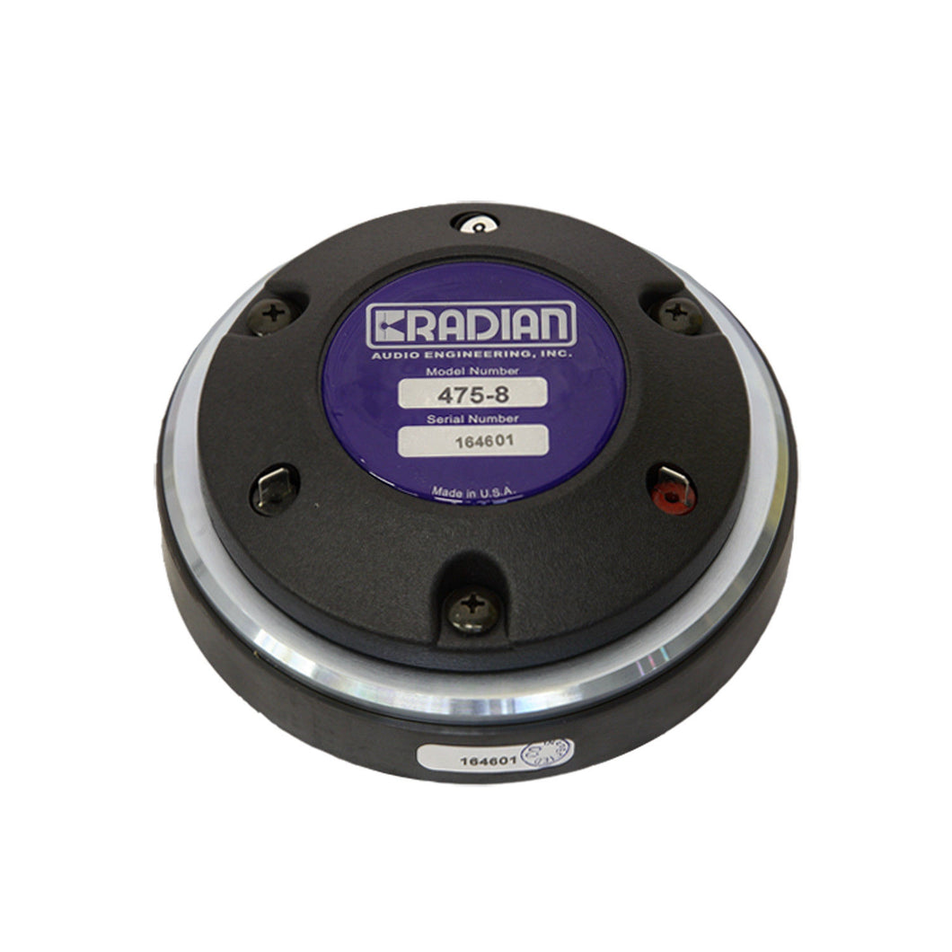 Radian 475PB 8 or 16 ohm Compression Driver - AUTHORIZED DISTRIBUTOR