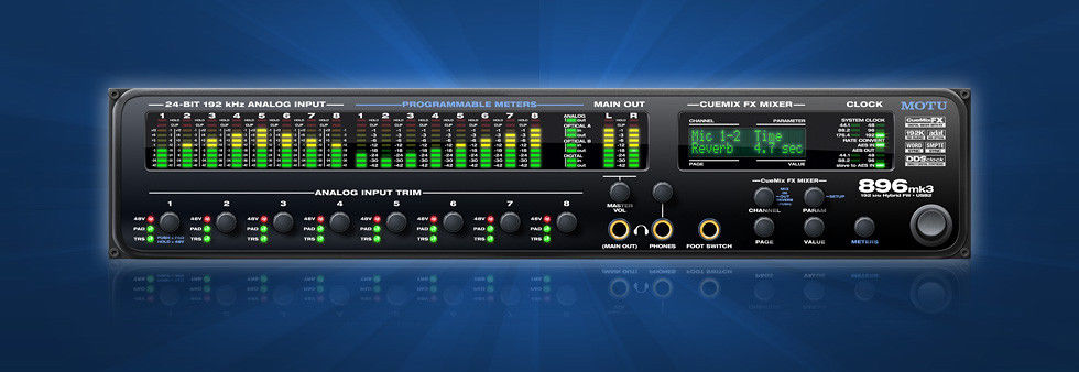 MOTU 896mk3 Hybrid Firewire and USB2 Audio Interface!!! AUTHORIZED DEALER