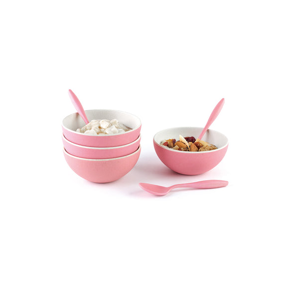 Bamboo Fiber small bowl with spoon for dessert and ice cream