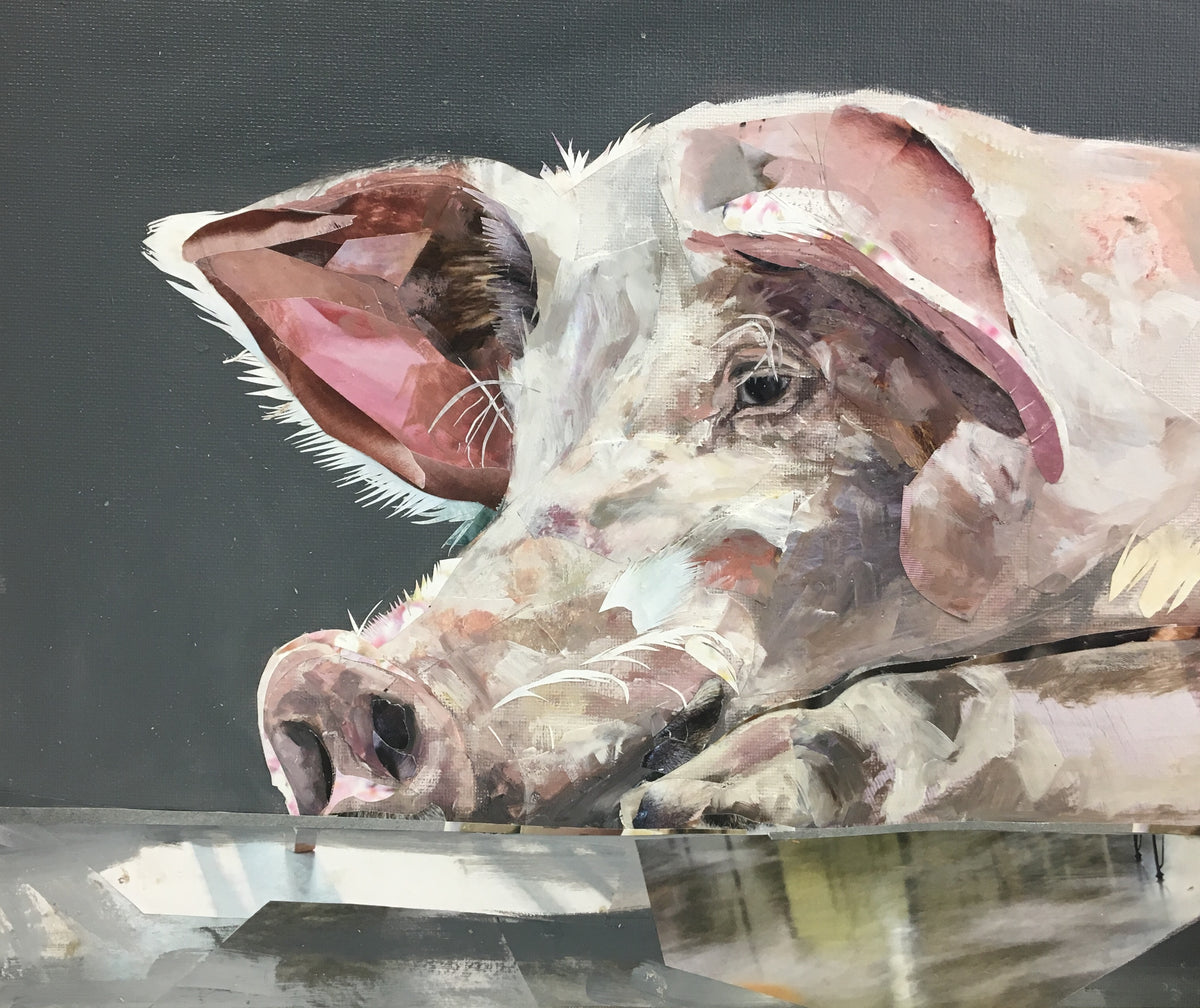 mixed-media-collaboration-pig-painting-collage-by-jacksonandyoung
