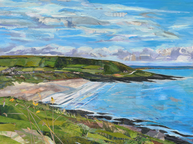 oil-and-collage-collaboration-Croyde-by-Sarah-Jackson-and-Corinne-Young