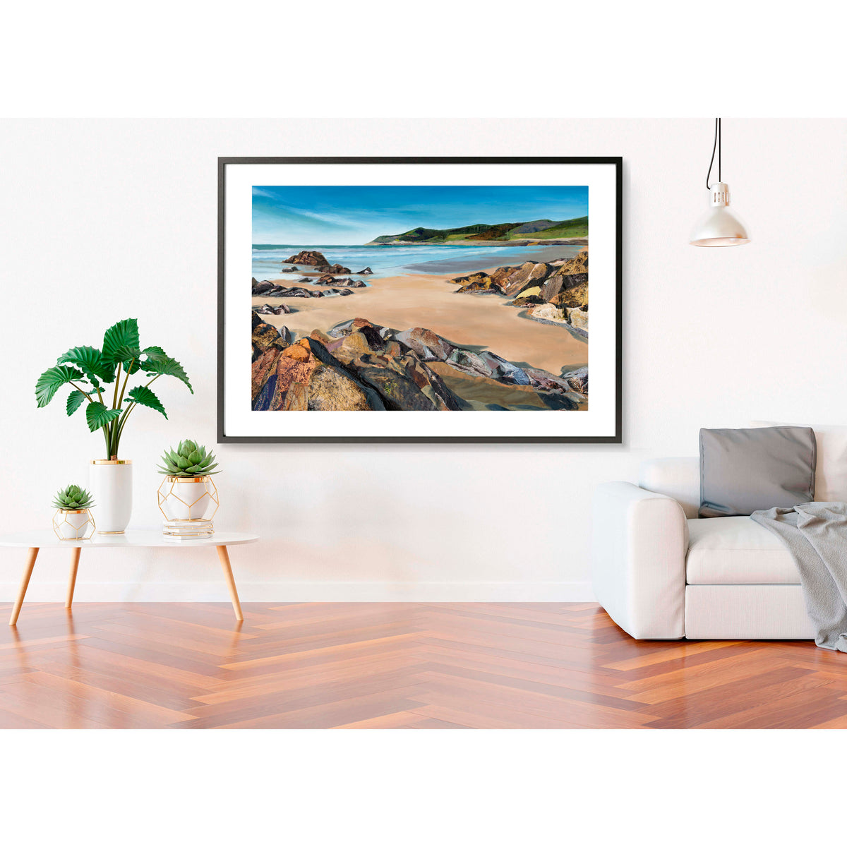 Woolacombe-artwork-South-West-beach-framed