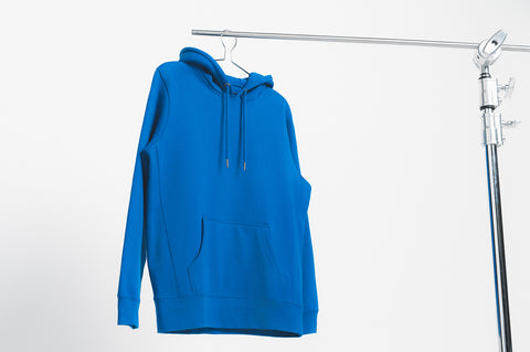 French Blue 400gsm Organic Cotton Hooded Sweatshirt