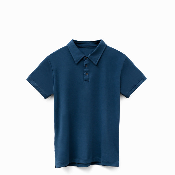 Ocean Navy American Grown Supima® 100% Cotton Polo Shirt