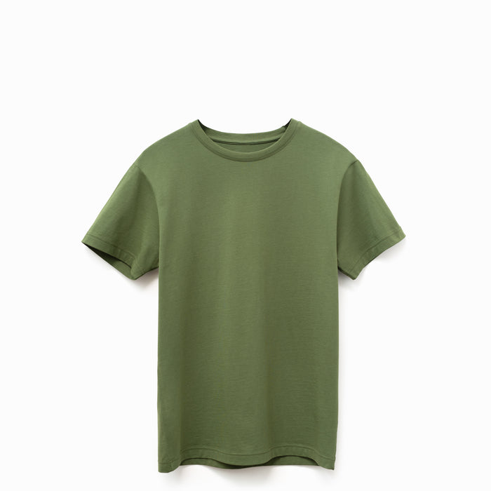 Military Olive American Grown Supima® 100% Cotton 6oz T-Shirt