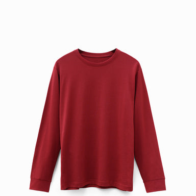 Oxblood American Grown Supima® 100% Cotton 6oz Long Sleeve T-Shirt