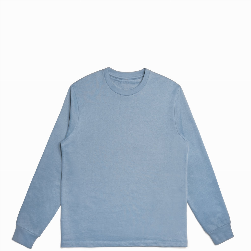Cloudy Blue American Grown Supima® 100% Cotton Crewneck Sweatshirt