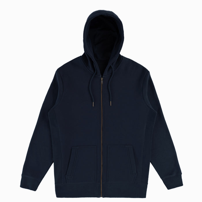 Ocean Navy Organic Cotton Zip-Up Sweatshirt