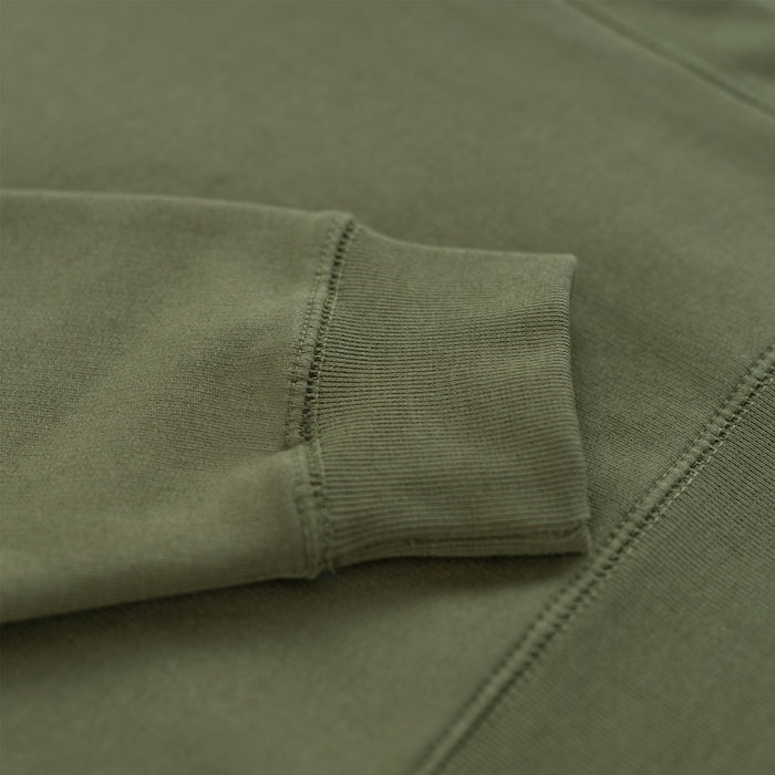 Military Olive Organic Cotton Crewneck Sweatshirt