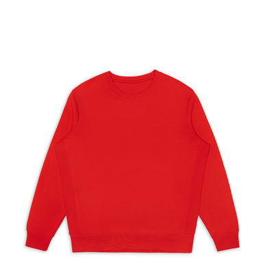 Primary Red Organic Cotton Crewneck Sweatshirt
