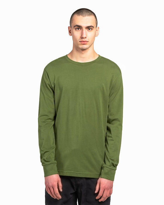 Military Olive American Grown Supima® 100% Cotton 6oz Long Sleeve T-Shirt