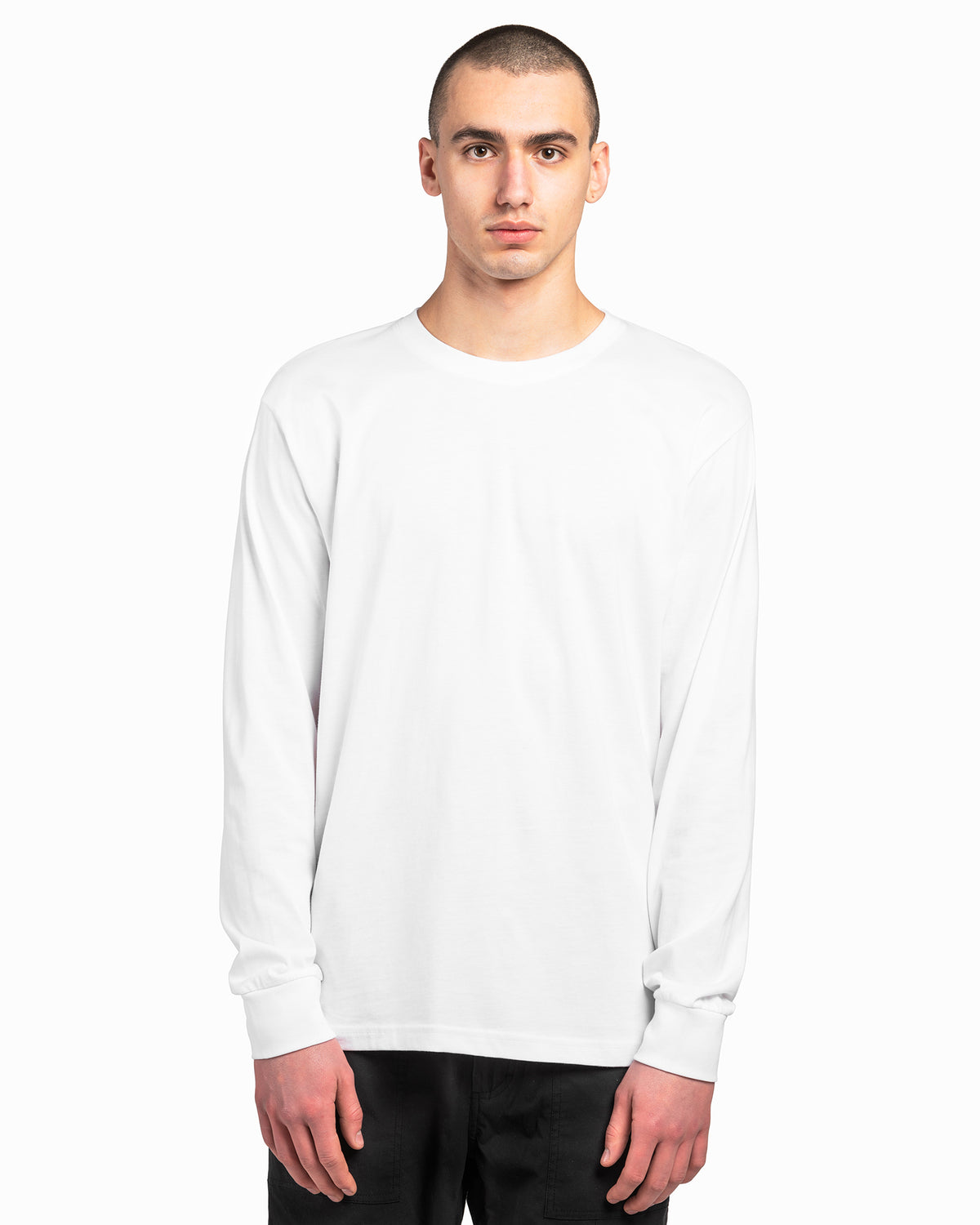 White American Grown Supima® 100% Cotton 6oz Long Sleeve T-Shirt