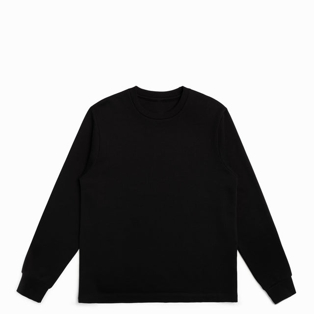 Black American Grown Supima® 100% Cotton Crewneck Sweatshirt