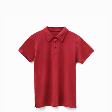 Oxblood American Grown Supima® 100% Cotton Polo Shirt