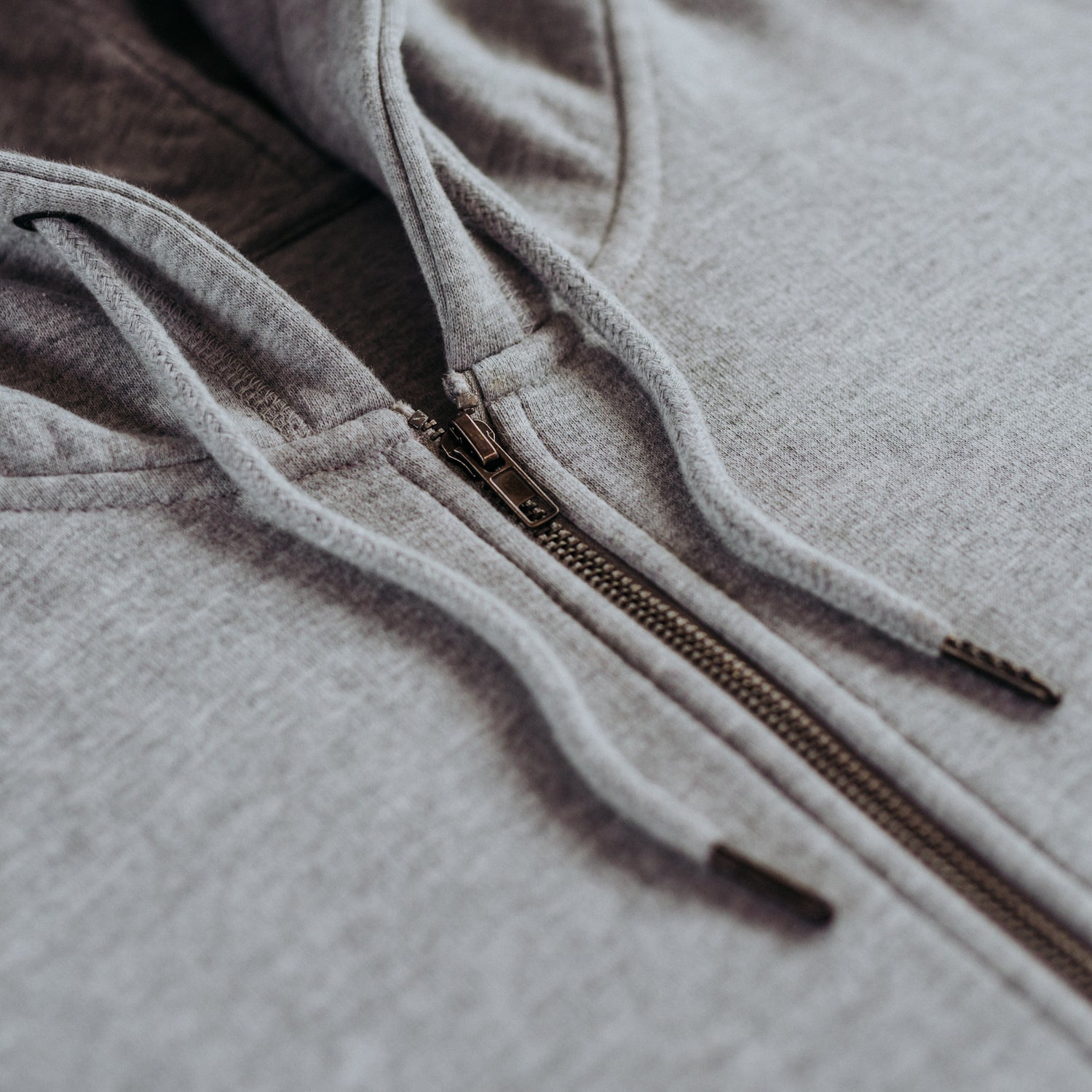 Heather Grey Organic Cotton Zip-Up Sweatshirt