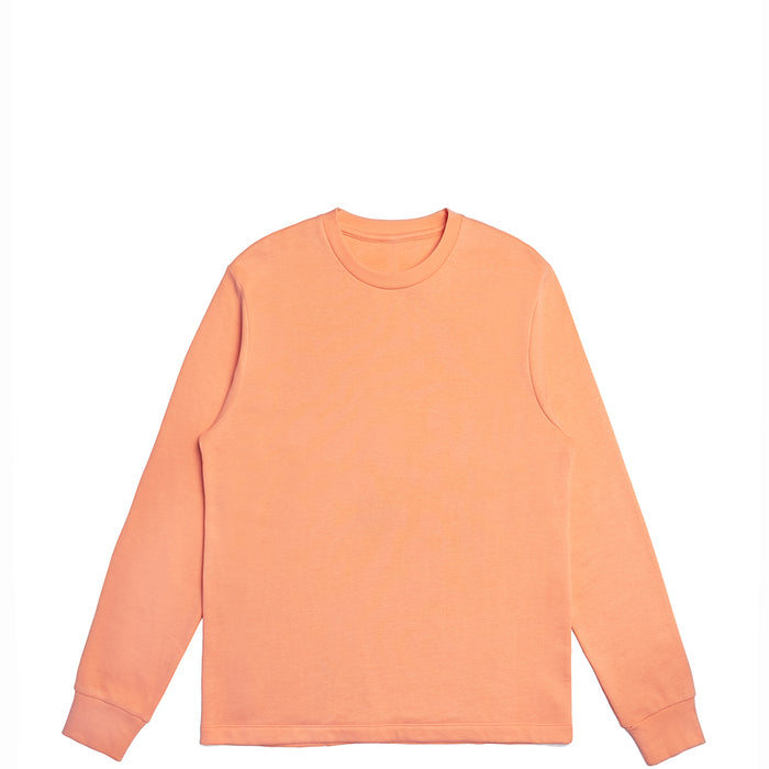 Peach American Grown Supima® 100% Cotton Crewneck Sweatshirt