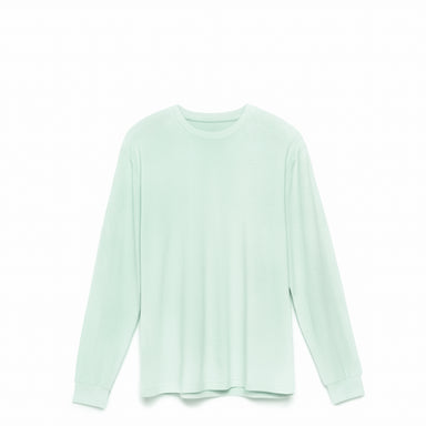 Seafoam American Grown Supima® 100% Cotton 6oz Long Sleeve T-Shirt