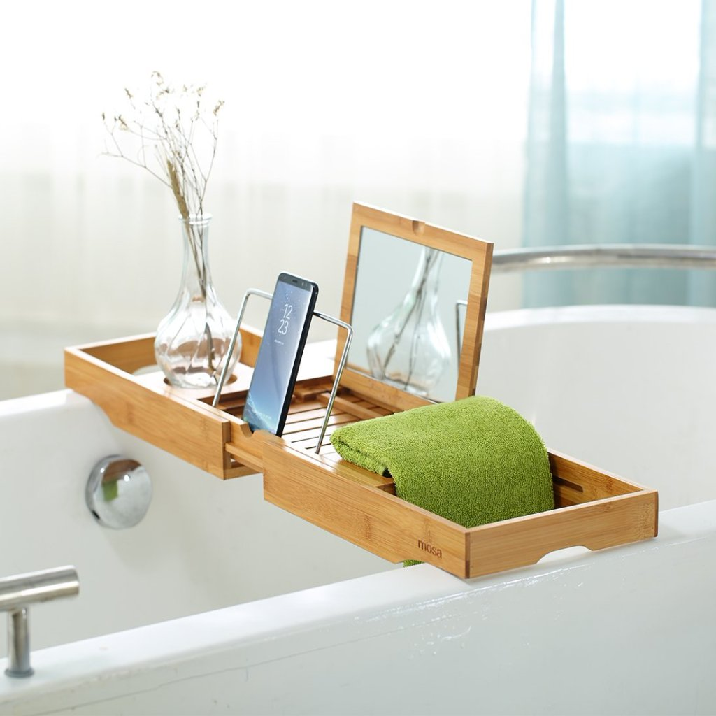 ... Mosa Nature Bamboo Bathtub Caddy Tray ...