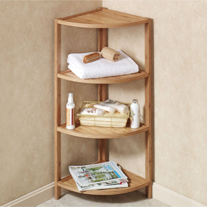 Mosa Bamboo Bamboo Corner Shelf Bathroom Shower Organizer Storage