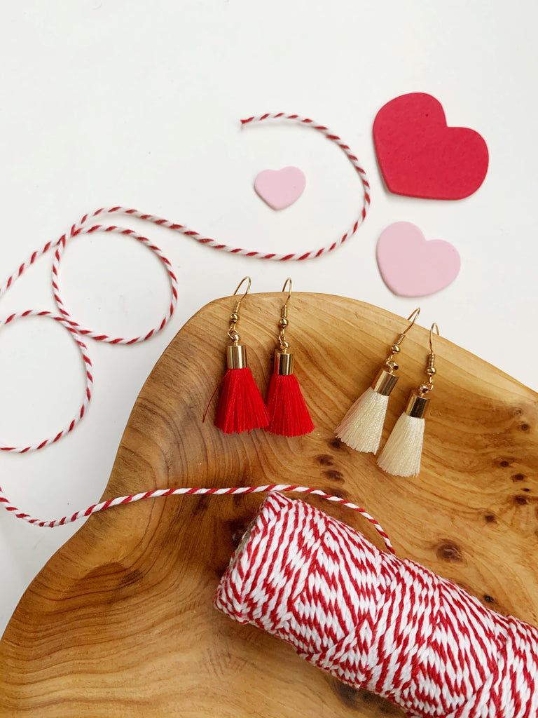 Earrings of the week in Valentine Small Tassels