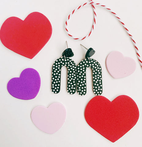 Earrings of the week in SALE Dots and Hearts