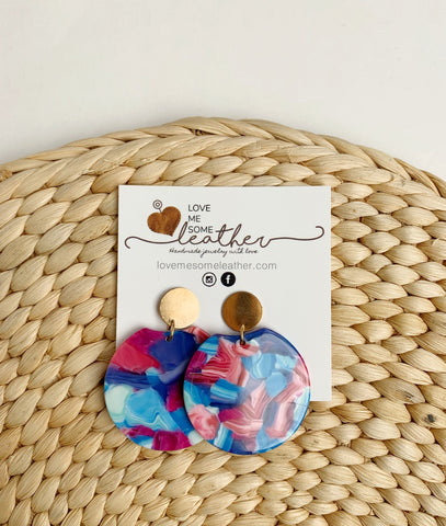 Earrings of the week CLEARANCE in Take Me to the Beach Acrylics
