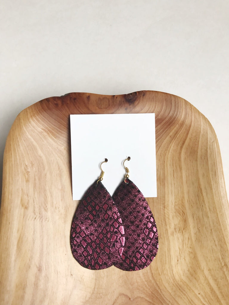 SUPER SALE Earrings of the week in Cranberry Shimmer