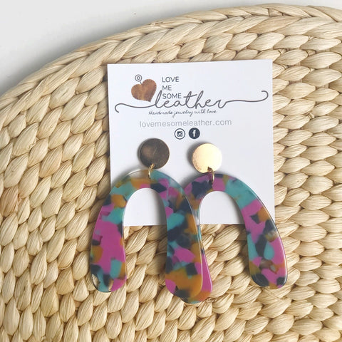 Earrings of the week CLEARANCE in Multi-Colored Acrylics