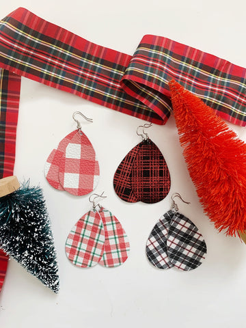 Earrings of the week in Holiday Plaids