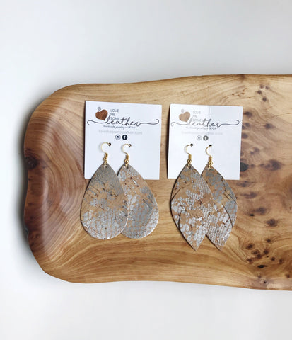 Earrings of the week in Silver Snake Cork