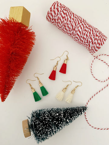 Earrings of the week in Holiday Small Tassels