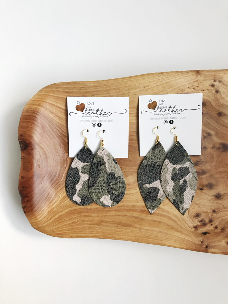 Earrings of the week in Perfect Camo